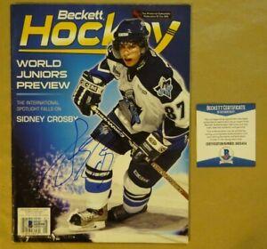 Signed SIDNEY CROSBY Autographed Hockey January 2004 Magazine Beckett COA BAS