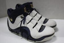 """Nike zoom Lebron 4 white/navy/gold """"west coast"""" Shoes Sz 10.5 (314647 111)"""