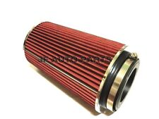 """10""""H COLD/SHORT RAM INTAKE HIGH FLOW CONE RED AIR FILTER3""""/3.5""""/4"""" REDUCER"""
