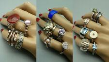 4444 Konvolut 24 Ringe 925 835 800 Silber Schmuck Edelsteine Vintage Design