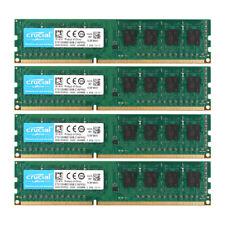 Crucial 16GB 4x 4GB PC3L 12800U 2RX8 DDR3 1600MHz Desktop Memory RAM DIMM Intel