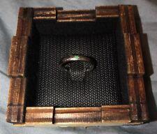 Emerald Band 14K White Gold Star Ring May Birthstone Wedding Engagement Size 5