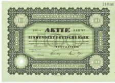Westfalenbank 100dm bochum 1966