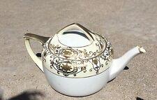 Noritake Christmas Ball Teapot. Pattern 16034 GOLD Enamel Decor.