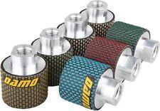 "2"" Dry Diamond Polishing Drum Wheels Set of 7 for Granite/Concrete Sink Cutouts"