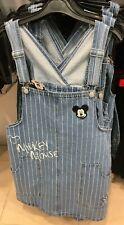 DISNEY MICKEY MOUSE DUNGAREES Pinafore Denim Jean Dress Ladies Womens Primark