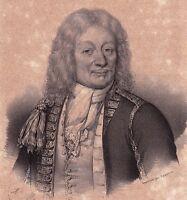 Portrait XIXe Abraham Duquesne Dieppe Seine Maritime Marine Royale 1835
