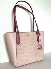 New Michael Kors Kimberly Bonded Tote handbag PVC & Leather Tulip multi