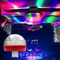 Mini USB RGB LED Car Interior Light Neon Atmosphere Ambient Music Control Lamps