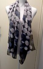 Retro style black and grey soft scarf-Aussie seller Brand new in packaging