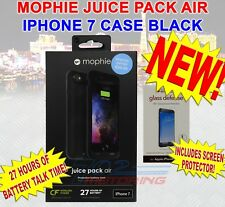 NEW MOPHIE JUICE PACK AIR BATTERY CASE iPHONE 7 & 8 BLACK W/ SCREEN PROTECTION
