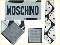 MOSCHINO Tie Man 100% Silk Made In Italy UNTIL - 80 % MO04 TOD0