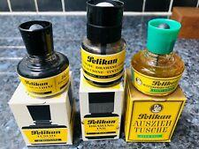 Vintage Pelikan Waterproof Drawing ink, Black and light green, boxed.
