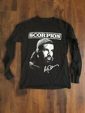 Drake 2018 Scorpion Tour Long Sleeve Shirt Sz S Black Hip Hop Rap