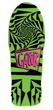 Vision Gator 2 Reissue Skateboard Deck, Lime, 10.25 x 29.75-Inch