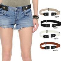 Unisex Elastic Stretch No Buckle Waist Belt Buckle-Free Belt For Jeans Pants