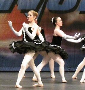 Black Stretch velvet Ballet Platter Tutu adult S/M YAGP Competition Swarovski