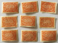 German Deutsches Reich 500 Fünfhundert Mark Stamp 1923