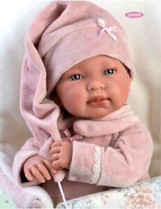 M. Llorens Tina Rosa, 44 cm Babypuppe, Stoffkörper, Stimme und Strampelsack