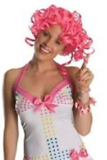 """NEW Secret Wishes Pink Curly Wig Ladies """"Candy Girl"""" - Washable, real hair feel"""
