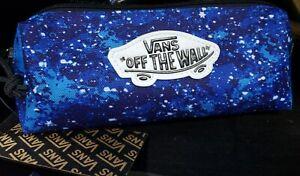 NEW! Vans OTW Tie Dye Blue Pencil Pouch Tech Case Stash Bag Accessory Travel NWT
