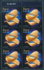 [328703] Aland 2011 good block of 6 stamps very fine MNH