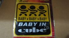 SALE UNIVERSAL STICKER BABY IN CUBE FOR CAR WINSCREEN