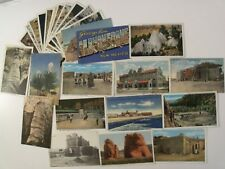 NEW MEXICO NM 27 LINEN LOT PRE-WWII& WWII 1 LARGE LETTER ROADSIDE AMERICANA #511