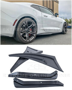 For 16-Up Camaro GM Extended TEXTURE BLACK Front Rear Splash Guards Mud Flaps