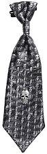 Tête de mort Halloween Cravate métallique - LOOK NEUF - Accessoire Carnaval FAS