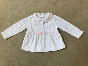 VINTAGE HANNA ANDERSSON WHITE EYELET & LACE TODDLER TOP SHIRT SIZE 80