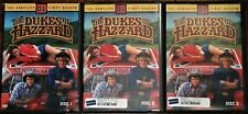 THE DUKES OF HAZARD DVD'S COMPLETE SEASONS ONE TWO AND THREE