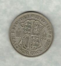 KEY DATE 1930 GEORGE V HALF CROWN IN GOOD FINE CONDITION