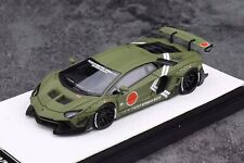 Timothy & Pierre 1/64 LBWK Liberty Walk Aventador 2.0 Fighter Green Lamborghini