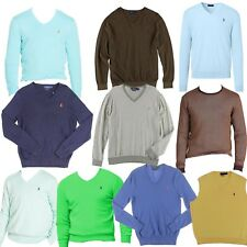 Polo Ralph Lauren Men's V-Neck & Crew Pullover Sweater (Slim Fit and Regular)