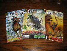 Dark Horse AXE COP Bad Guy Earth 1 - 3 Complete Set!!  Glossy VF  2011