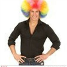 Giant Rainbow Multicolor Clown Afro Wig - Adult Unisex Quality Oversized