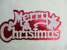 "Vintage ""Merry Christmas"" Cardboard Wall Hanging Decoration"