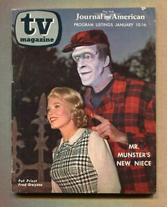 TV MAGAZINE Journal American NY Jan 10 – 16 1965 MUNSTERS Pat Priest FRED GWYNNE