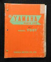 "1968 1969 YAMAHA ""80cc MODEL YG5-T"" MOTORCYCLE PARTS CATALOG MANUAL NICE"