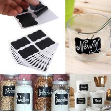 36pcs Chalkboard Blackboard Black Stickers Decals Craft Kitchen Jar Labels Lots