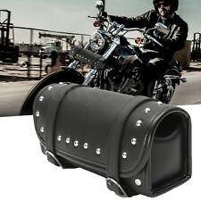 Motorcycle Tool Bag Luggage Saddlebag Roll Barrel Storage For Harley Sportster