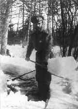 Emperor Nicholas II shovelling snow in the park at Tsarskoe Selo Russia-Interned
