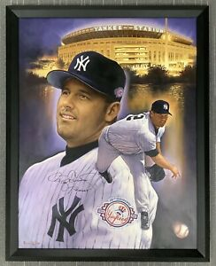 Roger Clemens Signed Canvas 31x40 NY Yankees Autograph Doo S Oh Art Framed JSA