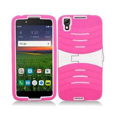 For Alcatel Idol 4 Hard Gel Rubber KICKSTAND Case Phone Cover Accessory