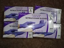 1000 pcs Large Nitrile  exam gloves . 5 box of 200 in each box .