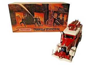 Matchbox Models Of Yesteryear #YFE07 1938 Mercedes KS15 Fire Truck 1:43 FREESHIP