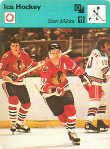 STAN MIKITA 1977 Sportscaster card #12-22 CHICAGO BLACKHAWKS