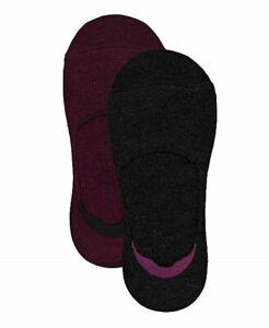 F164 Lemon Women's Black and Port Red Women's Cashmere Blend 2 pack Sock Liner
