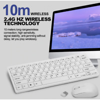 NEW 2.4GHz Ultra Thin Compact Portable Small Wireless Keyboard and Mouse Combo